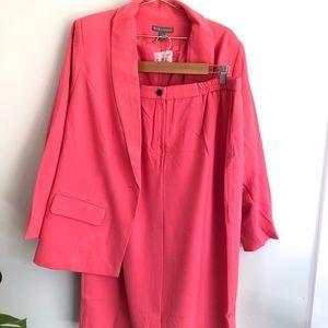Jessica London plus size coal 2 piece suit skirt